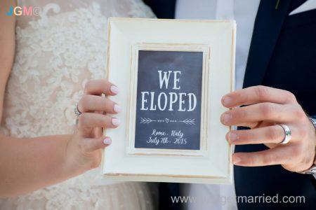 elope in italy frame