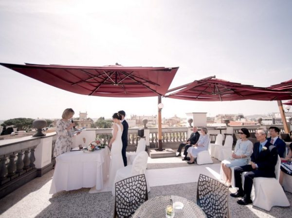 Ceremony in Rome Hotel Savoy Terrace