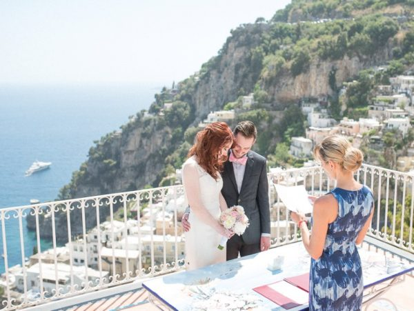 ceremony in positano terrace