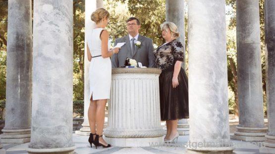 elope ceremony villa borghese rome temple
