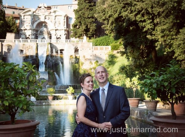 Villa D'este Tivoli Waterfall Wedding photo shoot in Italy