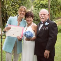 wedding vow renewal ceremony in private garden Italy