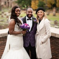 renewal of vows ceremony with afro-american clients in rome