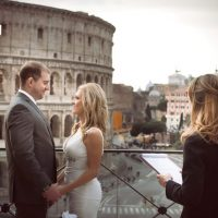 wedding vow renewal ceremony in Rome