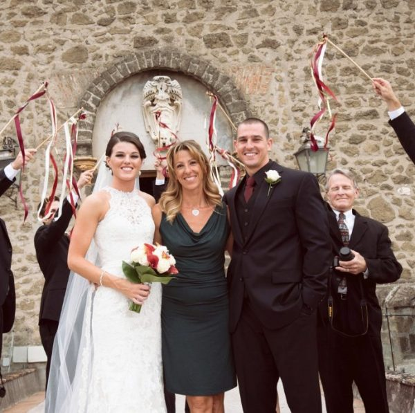 ceremony in Italy castle wedding