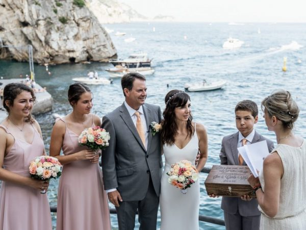 renewal of vows beach ceremony amalfi coast