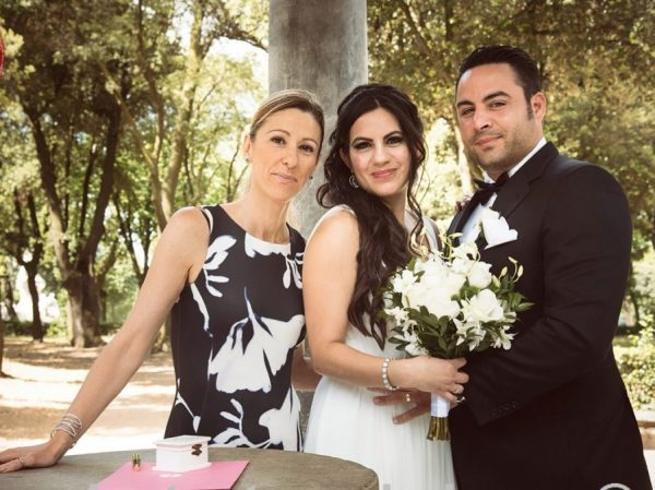 Elope Ceremony in Rome villa borghese temple of Diana