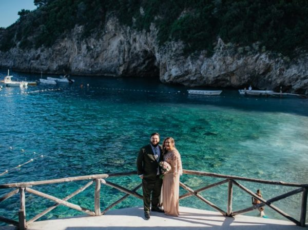 Conca del Sogno Beach Ceremony Amalfi Coast Wedding with sea view Italy
