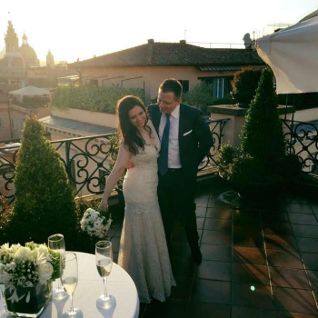 NY Bride and Groom photo shoot @ Grand Hotel de la Minerve Rome