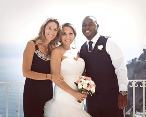 us couple married in positano